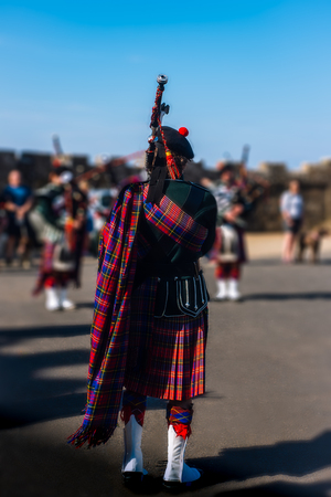 Summer Bagpipe Performance in Scotland