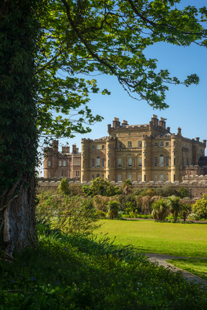 Scottish Castle and Gardens on a Beautiful Day in Summer