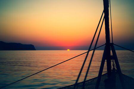 Background Image of Sailing into the Sunrise