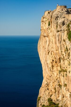 View Point on the Formentor Peninsula in Mallorca With Dramatic Cliffs and Blue Mediterranean Sea