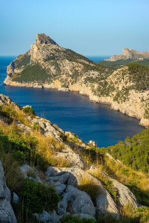 View of the Formentor Peninsula and Mediterranean Sea on the Balearic Island of Mallorca