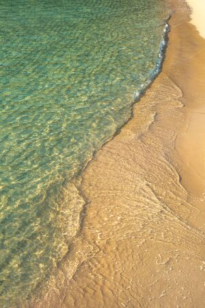 Tropical Sea and Sand Background From Above