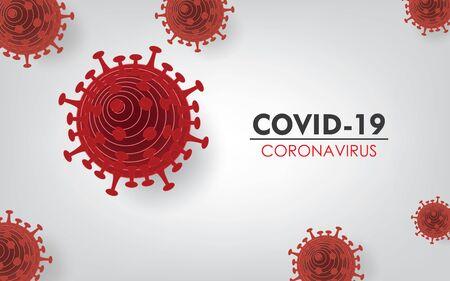 Coronavirus COVID-19 Isolated in White Background. Vector Illustration
