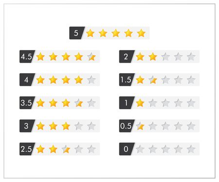 Feedback vector concept. Rank, level of satisfaction rating. User experience. Customer feedback. Review of consumer. feedback in form of yellow stars