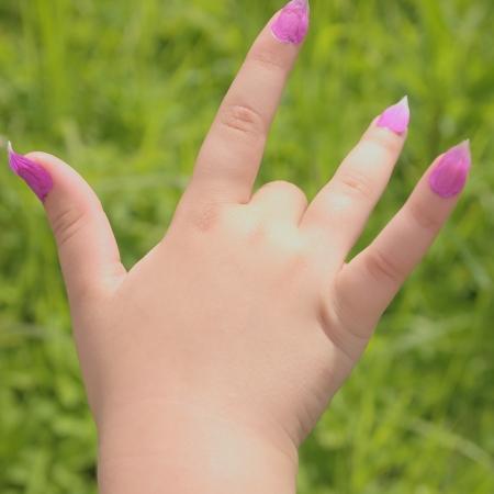 false nails from flower petals