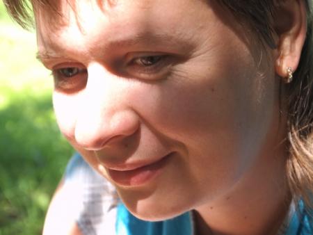 female portrait  outdoors