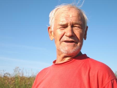 senior, portrait outdoors