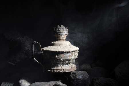 kerosene lamp which has not been used for a long time