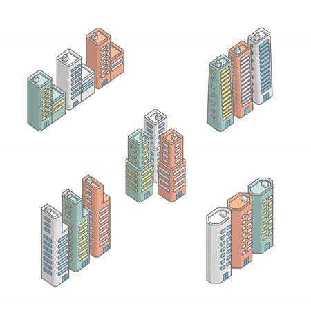 midtown: city ??building, Isometric building