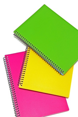 Three colored notebooks Stock Photo - 14262055