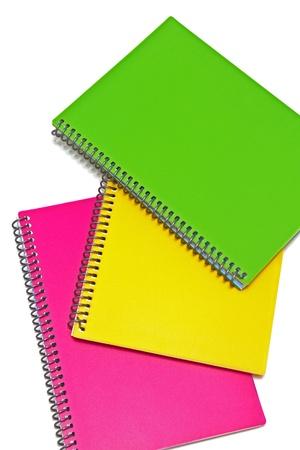 Three colored notebooks Stock Photo - 14262055
