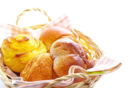 bread basket: Assorted bread Stock Photo