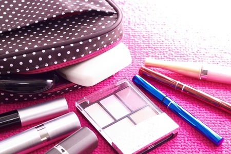The cosmetics with a cute pouch photo