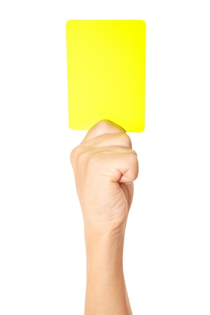 Yellow card Stock Photo - 18519577