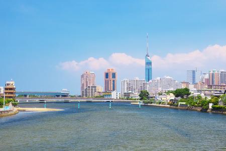 japon: Une image de la ville de Fukuoka, Japon