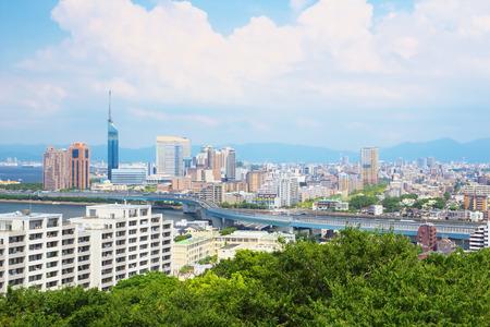 The view of Fukuoka City, Japan