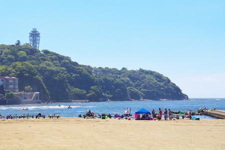 enoshima: An image of Enoshima beach in summer season