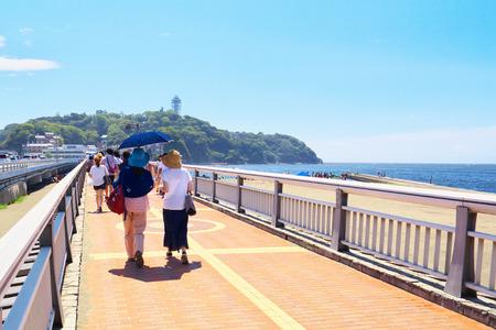 enoshima: Enoshima benten bridge, the gateway of Enoshima