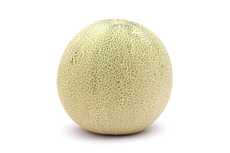 musk: A muskmelon isolated on white background Stock Photo