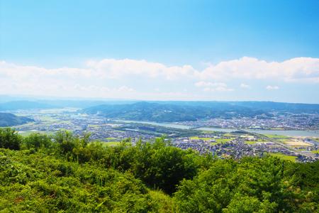 saga: The view of Karatsu City, Saga, Japan