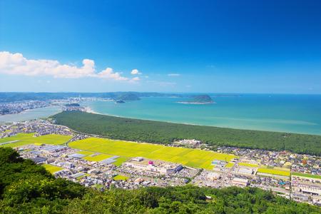 saga: Nijinomatsubara with Karatsu City, Saga Prefecture, Japan