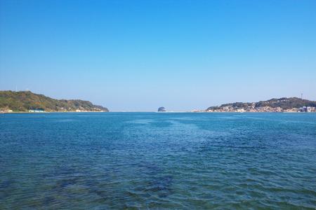 saga: View of Yobuko with Kabeshima island at Karatsu, Saga, Japan