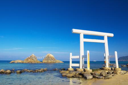 View of Sakurai Futamigaura at Itoshima, Fukuoka Prefecture, Japan