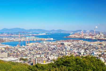 View of Kitakyushu City around Wakamatsu-ku