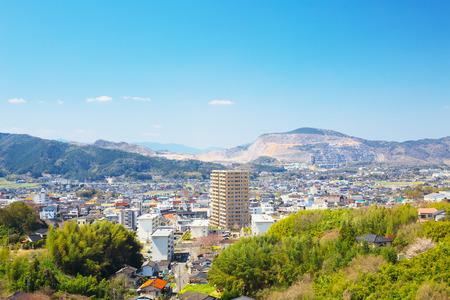 View of Tagawa City, Fukuoka, JAPAN