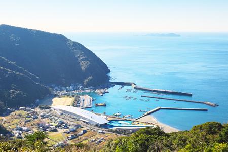 quasi: View of Saiki around Motosaru bay in Oita, Japan