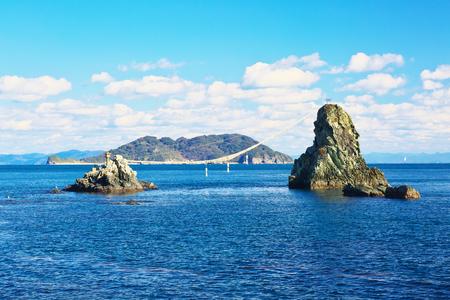 Bisyago Iwa, one of the scenic spots in Saganoseki, Oita, Japan