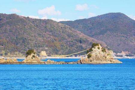 Bungo Futamigaura, the sightseeing spots in Saiki, Oita, Japan 版權商用圖片