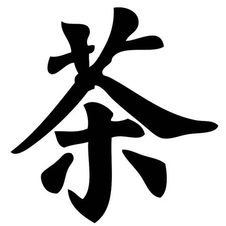 cha: tea - chinese calligraphy,symbol,character