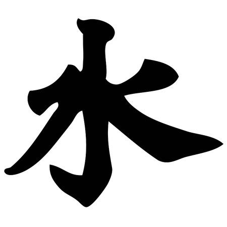 acqua - calligrafia cinese, simbolo, il carattere