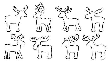 funny reindeer on the white background Vector