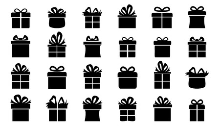 present silhouettes on the white background Imagens - 33746389