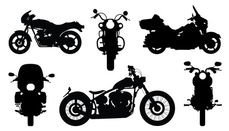 chopper silhouettes on the white background