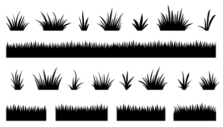 grass blades: grass silhouettes2 on the white background