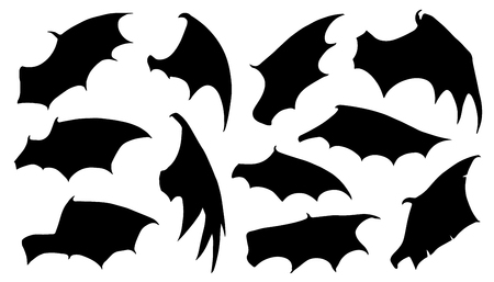 dragon wing silhouettes on the white background