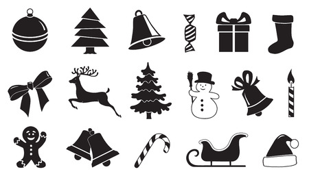 christmas icon: christmas symbol 01 on the white background Illustration