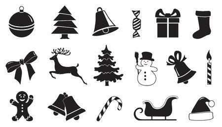01: christmas symbol 01 on the white background Illustration