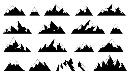mountains simple on the white background