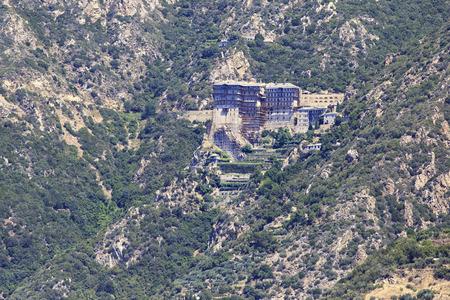 Simonopetra Monastery. Holy Mount Athos. Stock Photo