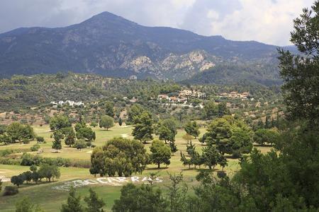 sithonia: Campo da golf di Porto Carras Grand Resort. Sithonia.