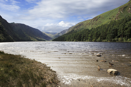 lough: Lough Tay in Wicklow Mountains National Park. Stock Photo