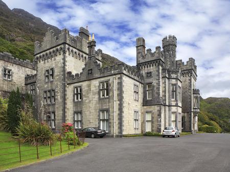 connemara: Kylemore Abbey. National park Connemara in Ireland.