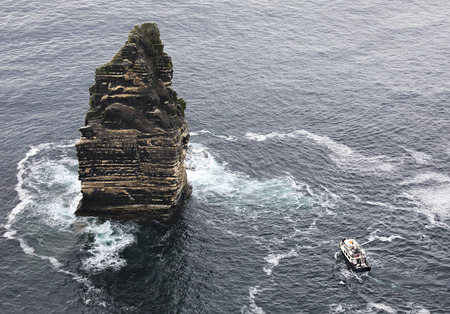 Cliffs of Moher Cruise. Most famous landmark in Ireland. photo