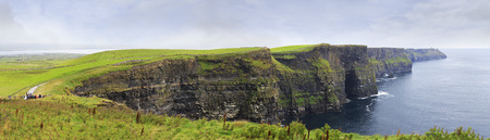 Cliffs of Moher the most famous landmark in Ireland. photo