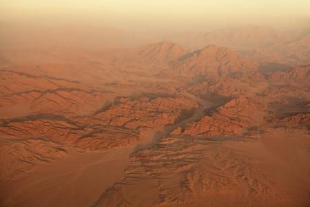 sinai peninsula: Sinai from the type of aircraft. Egypt.