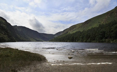 lough: Lough Tay after rain in Wicklow Mountains National Park. Stock Photo